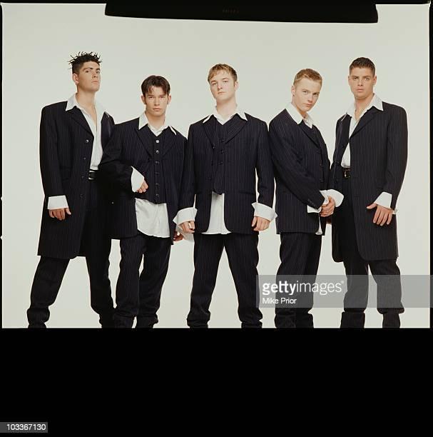 Irish boy band Boyzone pose for a group portrait in a London photographic studio in 1993 LR Shane Lynch Stephen Gately Mikey Graham Ronana Keating...