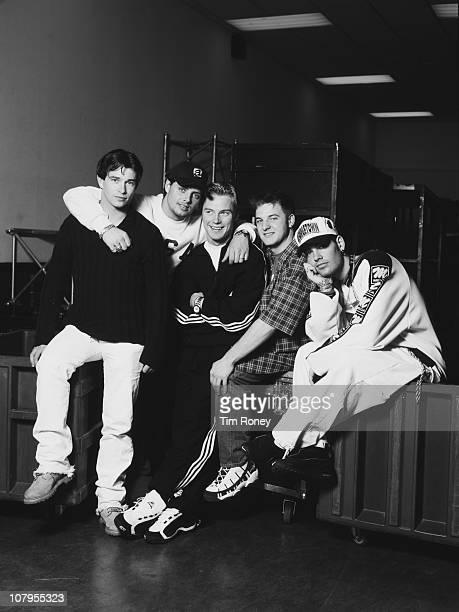 Irish boy band Boyzone with lead singer Ronan Keating centre circa 1995