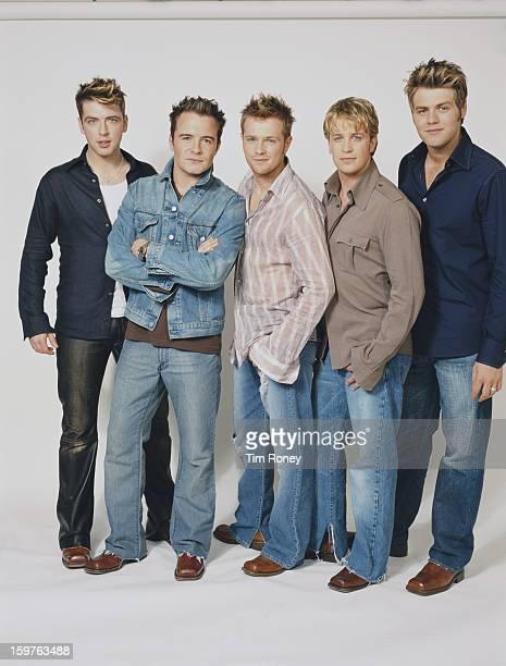 Irish boy band Westlife 2002 They are Nicky Byrne Kian Egan Mark Feehily Shane Filan and Brian McFadden