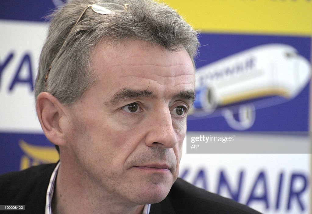 Irish budget airline Ryanair CEO Michael O'Leary takes part in a press conference in Paris on May 20, 2010. Italy fined Irish budget airline Ryanair three million euros on May 15, 2010 for failing to honour its obligations to assist passengers after cancelling their flights over volcanic ash.