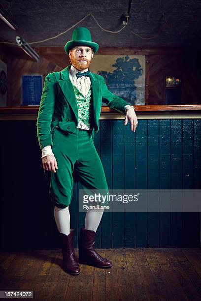 Irish Character / Leprechaun Standing in a Pub