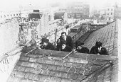 Irish Citizen Army on the roof of Liberty Hall Dublin just after the Easter Uprising 1916