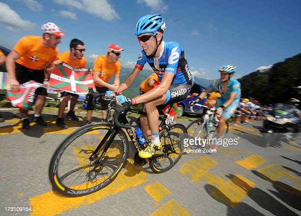 Irish Daniel Martin of Team GarminSharp during Stage 9 of the Tour de France on July 7 2013 in SaintGirons to BagneresdeBigorre France