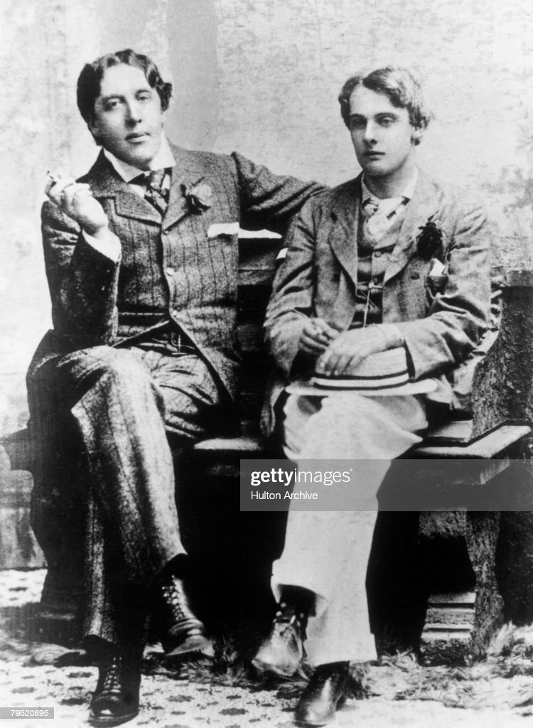 Irish dramatist <a gi-track='captionPersonalityLinkClicked' href=/galleries/search?phrase=Oscar+Wilde&family=editorial&specificpeople=240419 ng-click='$event.stopPropagation()'>Oscar Wilde</a> (1854 - 1900) with <a gi-track='captionPersonalityLinkClicked' href=/galleries/search?phrase=Lord+Alfred+Douglas&family=editorial&specificpeople=101946 ng-click='$event.stopPropagation()'>Lord Alfred Douglas</a> (1870 - 1945) at Oxford, 1893.