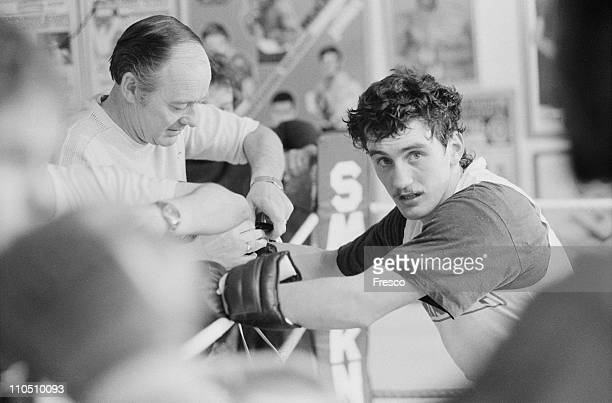Irish featherweight boxer Barry McGuigan 17th May 1985