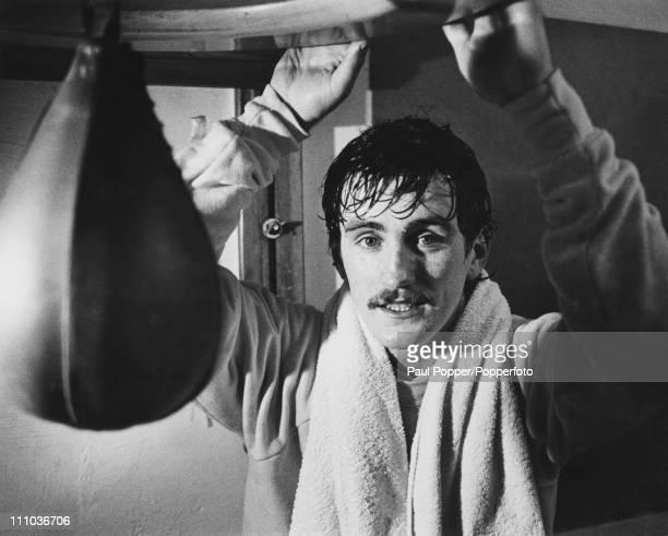 Irish feathweight boxer Barry McGuigan circa 1985
