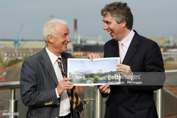Irish football manager Giovanni Trapattoni along with FAI chief executive John Delaney announce details of the FAI's 10year premium level seats for...