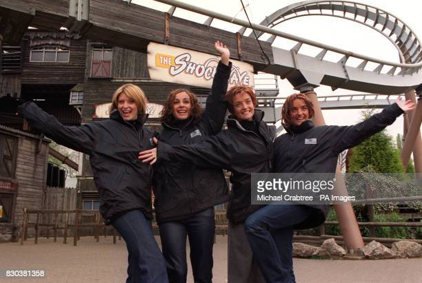 Irish girl pop band Bewitched at Drayton Manor Park in Staffordshire LR Sinead O'Carroll Lindsay Armaou Keavy Jane Lynch and Edele Lynch