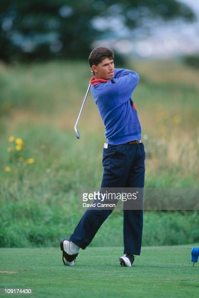 Irish golfer Padraig Harrington of Great Britain and Ireland during the Walker Cup at Portmarnock Golf Club Ireland 6th September 1991
