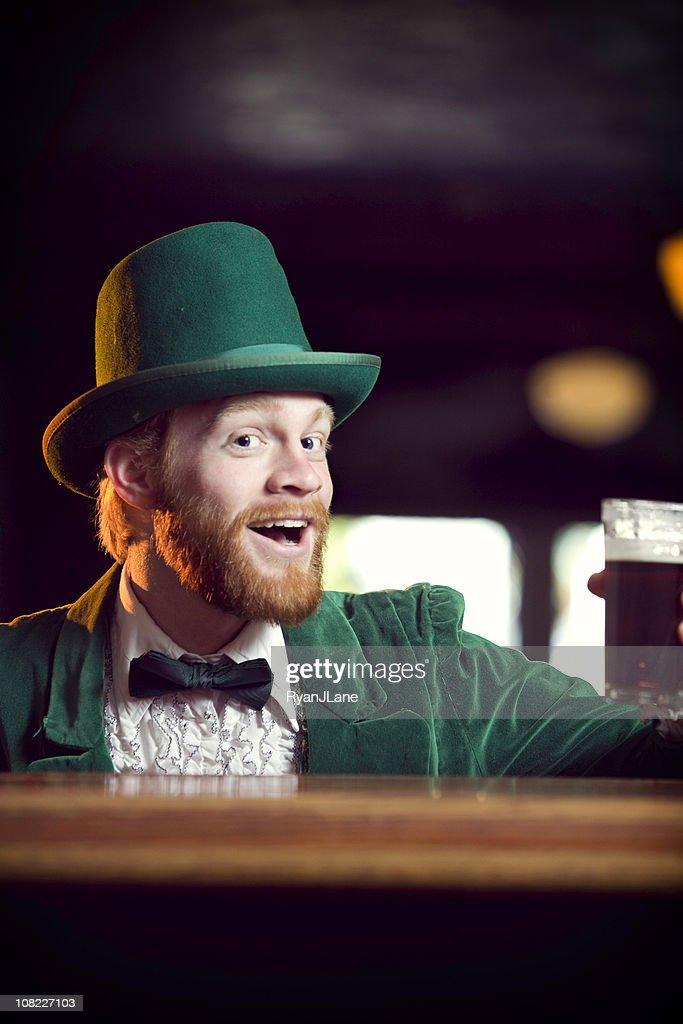 Irish / Leprechaun Character Series with Pint of Beer