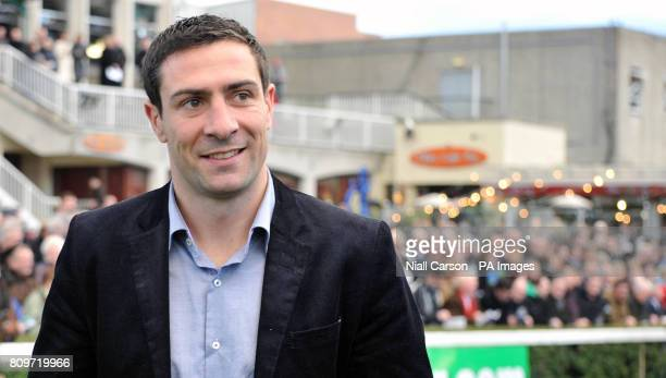 Irish Olympic boxing silver medalist Kenny Egan during the Christmas Festival at Leopardstown Racecourse Dublin Ireland