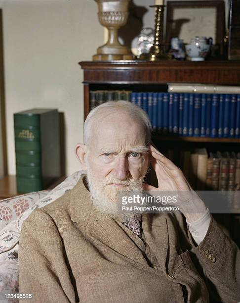 Irish playwright George Bernard Shaw at home in Ayot St Lawrence Hertfordshire on the eve of his 90th birthday 25th July 1946