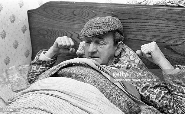 Irish Playwright John B Keane at his home in Listowel County Kerry