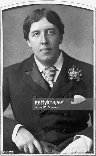 Irish playwright novelist essayist poet and wit Oscar Wilde 28th May 1889