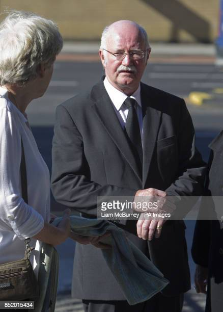 Irish Poet Peter Fallon attends the funeral of Nobel Laureate poet Seamus Heaney at the Sacred Heart Church in Donnybrook in south Dublin