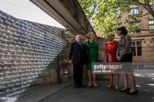Irish President Michael D Higgins with his partner Sabina Higgins Ireland's Deputy PM Frances Fitzgerald and New South Wales Premiere Gladys...