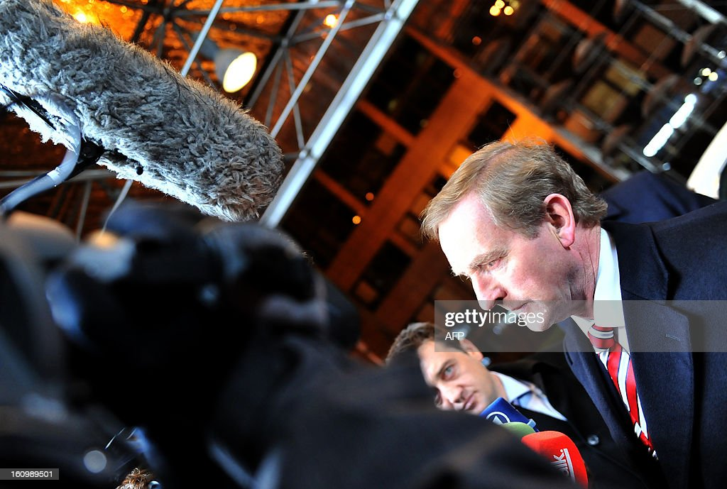 Irish Prime Minister Enda Kenny arrives at the EU Headquarters on February 7, 2013 in Brussels, on the first day of a two-day European Union leaders summit. European Union leaders head into a fresh clash over the EU's budget with the only certainty being that proposals for several years will be cut back.