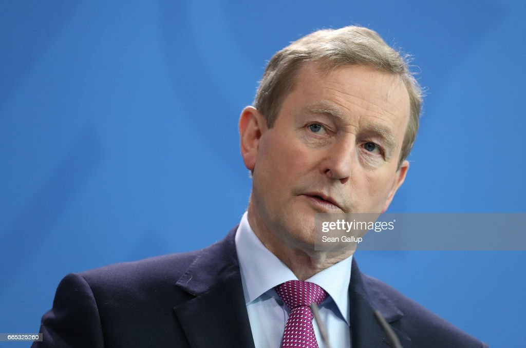Irish Prime Minister Kenny Meets With Angela Merkel : News Photo