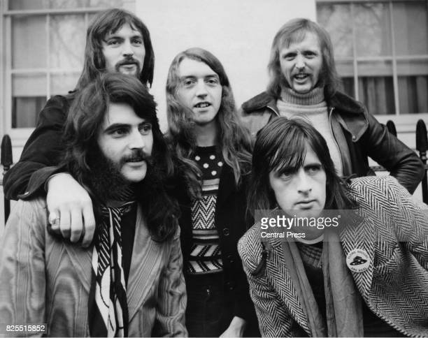 Irish rock band Horslips 19th January 1974 From left to right Jim Lockhart John Fean Barry Devlin frontman Charles O'Connor and Eamon Carr