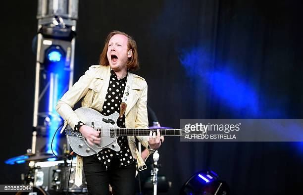Irish rock band Two Door Cinema Club performs during the first day of the Mexican musical festival Vive Latino at the Foro Sol in Mexico City on...