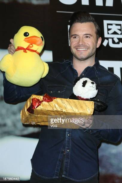 Irish singer and songwriter Shane Filan of the Westlife promotes his new album 'You And Me' at Eslite Mall on November 13 2013 in Taipei Taiwan