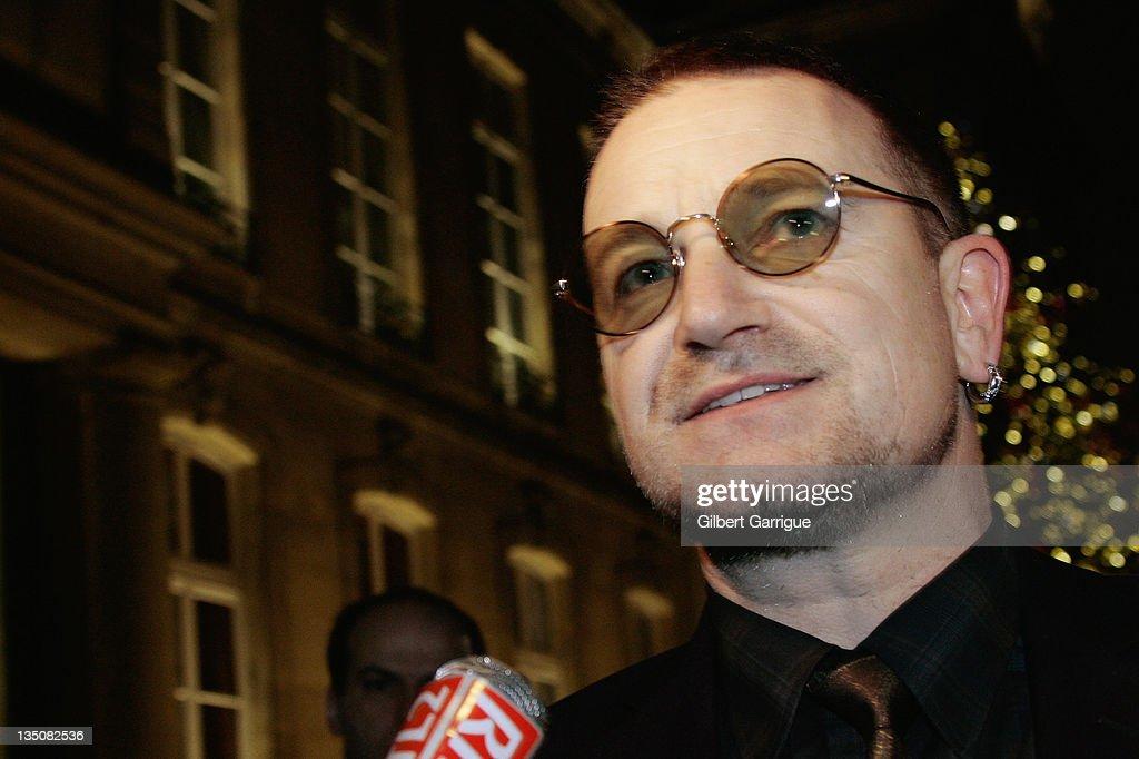 French President Nicolas Sarkozy Receives Bono