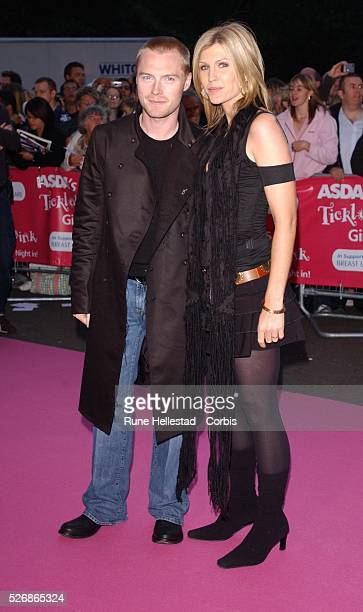 Irish singer Ronan Keating and his wife attend the Asda Tickled Pink Gala in aid of Breast Cancer Care at The Royal Albert Hall in London
