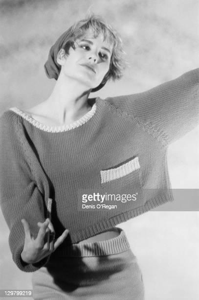 Irish singer Siobhan Fahey of girl group Bananarama Holland Park London circa 1986