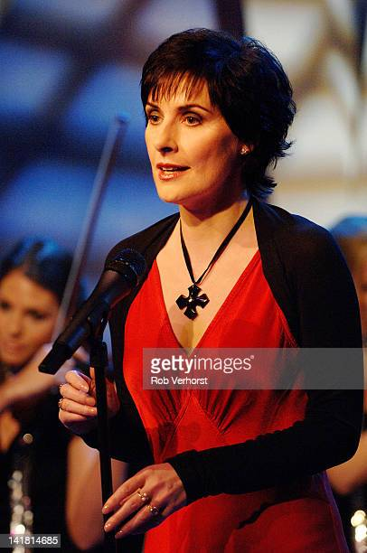Irish singersongwriter Enya performs on the TV show Program MAX Hilversum Netherlands 3rd April 2006