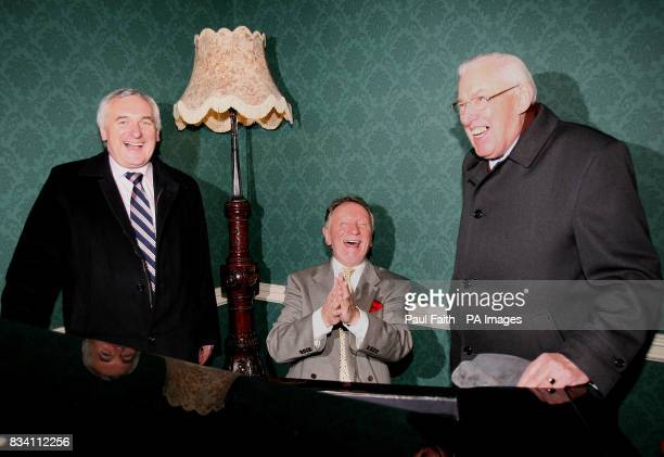Irish Taoiseach Bertie Ahern with Northern Ireland First Minister Ian Paisley and Irish singer/songwriter Phil Coulter at Galgorm Resort and Spa in...