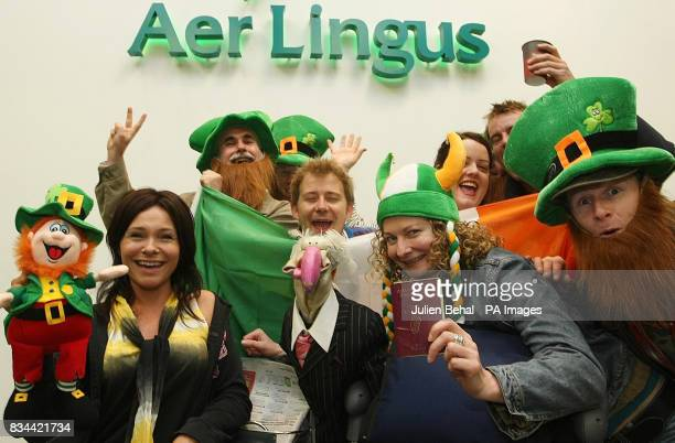 Irish television star Dustin the Turkey and his Eurovision entourage check in at Dublin Airport to leave for Belgrade in Serbia to represent Ireland...