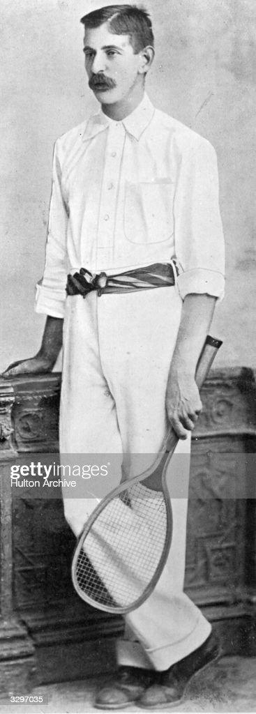 Irish tennis player Joshua Pim, twice winner of the men's singles title at Wimbledon.