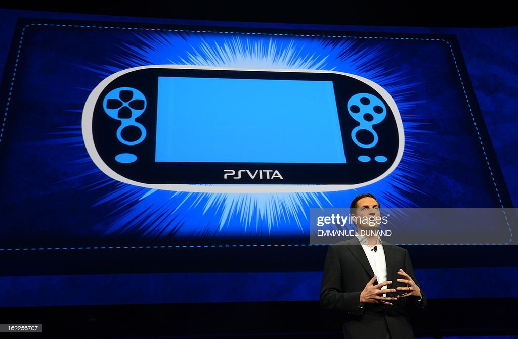 Irish video game developer and CEO of Gaikai, David Perry talks as Sony introduces the PlayStation 4 at a news conference February 20, 2013 in New York.