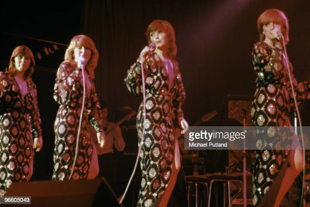 Irish vocal group The Nolans performing in the UK 1981