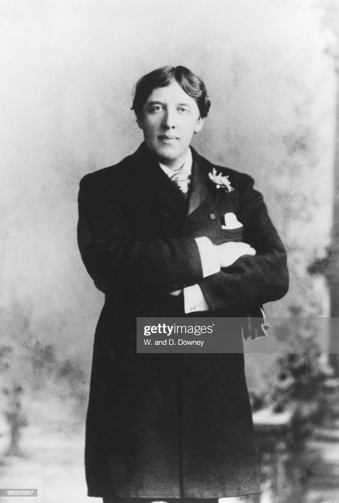 Irish writer and dramatist <a gi-track='captionPersonalityLinkClicked' href=/galleries/search?phrase=Oscar+Wilde&family=editorial&specificpeople=240419 ng-click='$event.stopPropagation()'>Oscar Wilde</a> (1854 - 1900), 28th May 1889.
