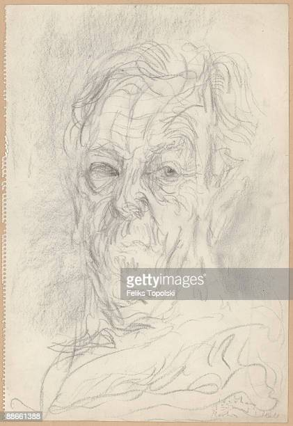 Irish writer C S Lewis circa 1960 A sketch by Polishborn British expressionist painter Feliks Topolski