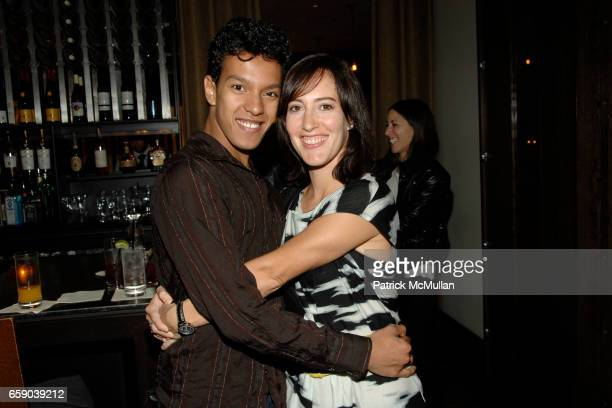Irlan Santos da Silva and Beadie Finzi attend Private Dinner in Honor of the 2008 GUCCI Tribeca Documentary Fund Recipients at Craft Restaurant on...