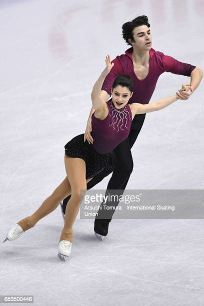 Irma Caldara and Edoardo Caputo of Italy compete in the Junior Pairs Short Program during the 1st day of the World Junior Figure Skating...