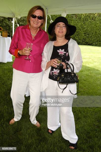 Irma Damhuis and Linda Leon attend PULSE OF THE CITY GALA Comes To The Hamptons Hosted by the CARDIOVASCULAR RESEARCH FOUNDATION at Private Residence...