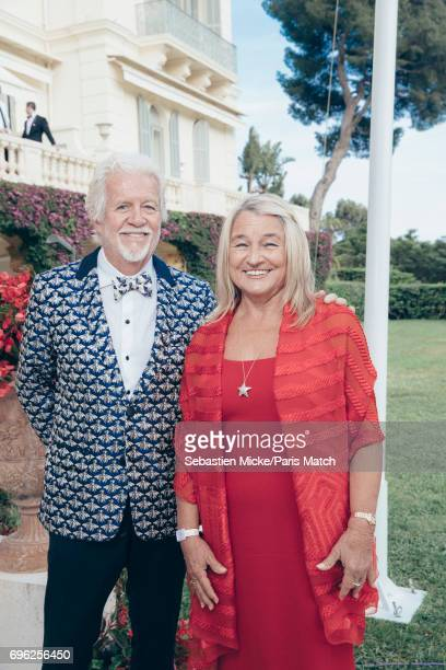 Irmelin Indenbirken and her partner David Ward are photographed for Paris Match whilst attending the Amfar Gala at the Eden Roc Hotel on May 25 2017...