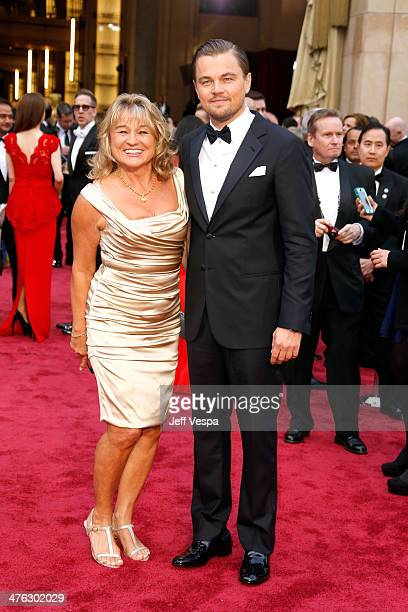 Irmelin Indenbirken and Leonardo DiCaprio attend the 86th Oscars held at Hollywood Highland Center on March 2 2014 in Hollywood California