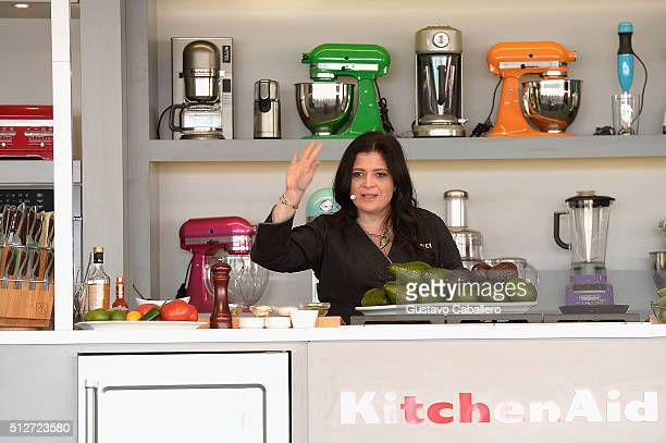 Iron Chef Alex Guarnaschelli leads a culinary demonstration at Goya Foods Grand Tasting Village Featuring MasterCard Grand Tasting Tents KitchenAid®...
