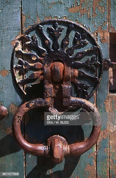 Iron door knocker of Chateau de Sable 17151750 technical centre of the National Library of France Pays de la Loire France 18th century