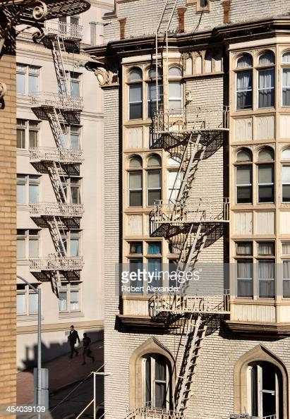Apartment Building Fire Escape Ladder california scenics pictures | getty images