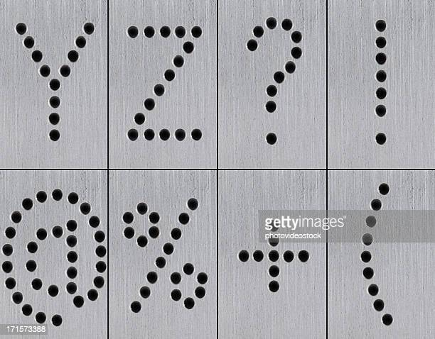 XXXL Iron Holes Alphabet