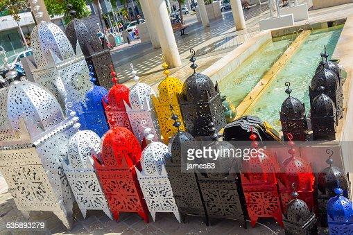 アイロンランプアラビア風スタイルの可愛らしい色合いの下書き : ストックフォト
