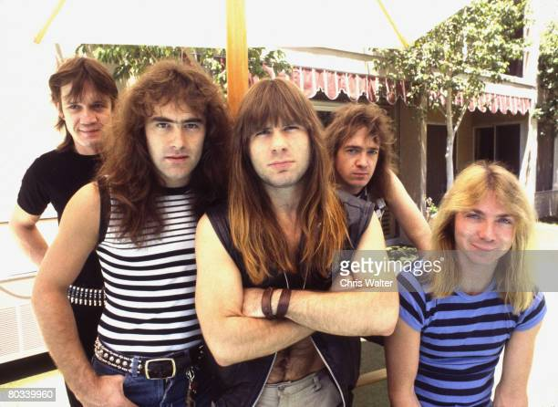 Iron Maiden 1983 Nicko McBrain Steve Harris Bruce Dickinson Adrian Smith and Dave Murray Chris Walter