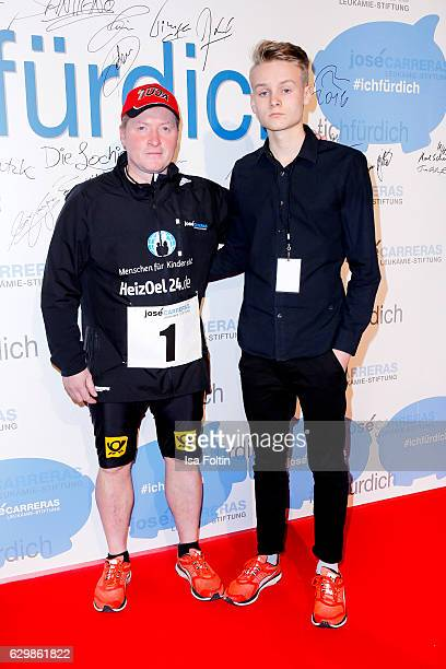 Iron man Joey Kelly and Luke Christopher attend the 22th Annual Jose Carreras Gala on December 14 2016 in Berlin Germany