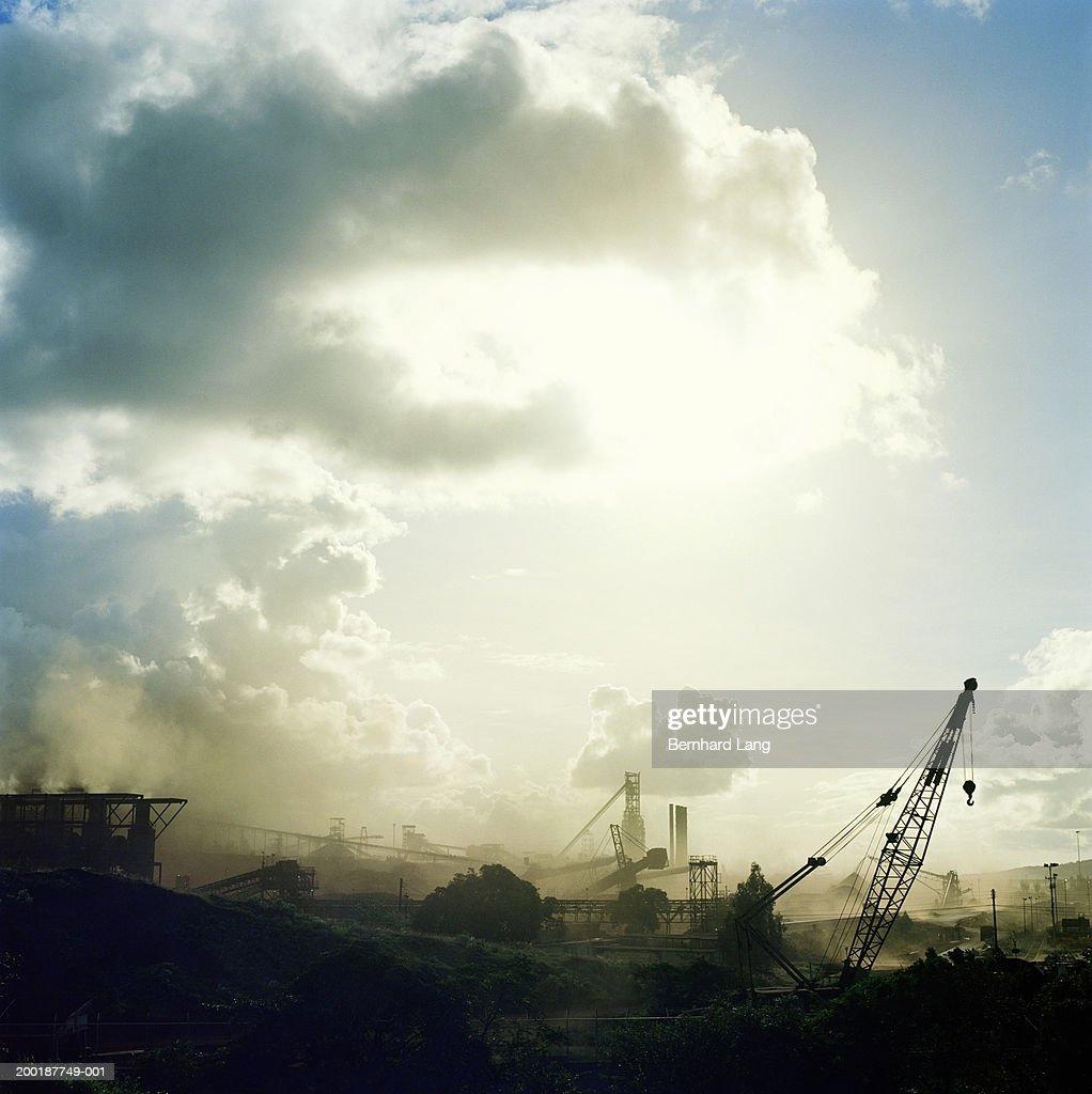Iron ore open pit mine : Stock Photo