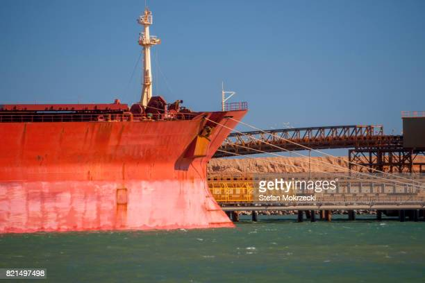Iron Ore Ship At Berth, Port Hedland, Australia